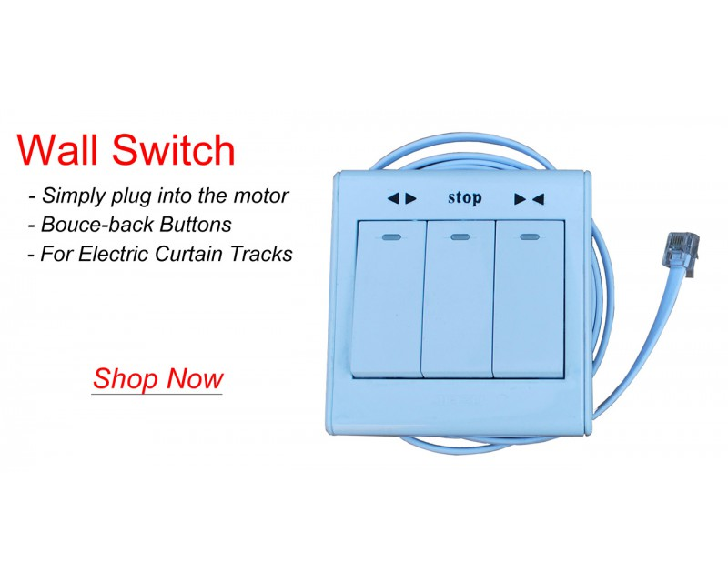 Optionally you can also control with wired wall switch