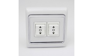 Double Wall Switch for Project Screen, Window Opener, Roller Blind and Roller Shutter