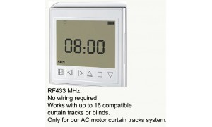Wireless Timer for AC Motor Electric Curtain Track, Window Opener, Roller Blind, Roller Shutter