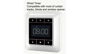 Wired Timer for AC Motor Electric Curtain Track, Window Opener, Roller Blind, Roller Shutter