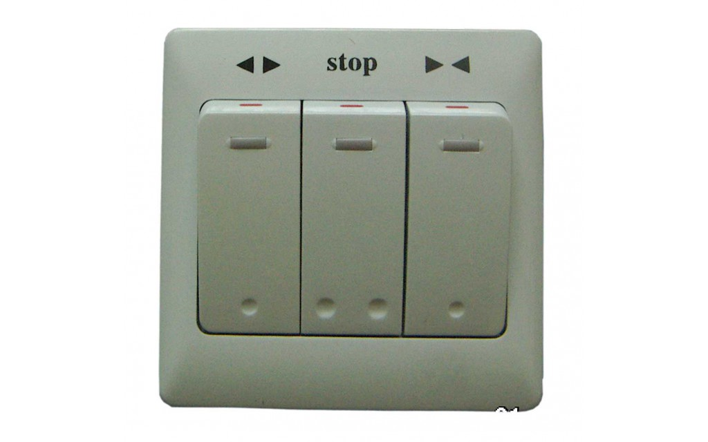 Switch for electric curtain tracks