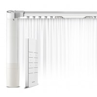 "DIY 122"" (3.1M) Wire-free battery powered Electric Curtain"
