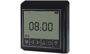 Wireless Timer for AC Motor Electric Curtain Track, Window Opener, Roller Blind, Roller Shutter (Black)