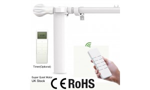 3-Meter Motorized Curtain Poles with Remote