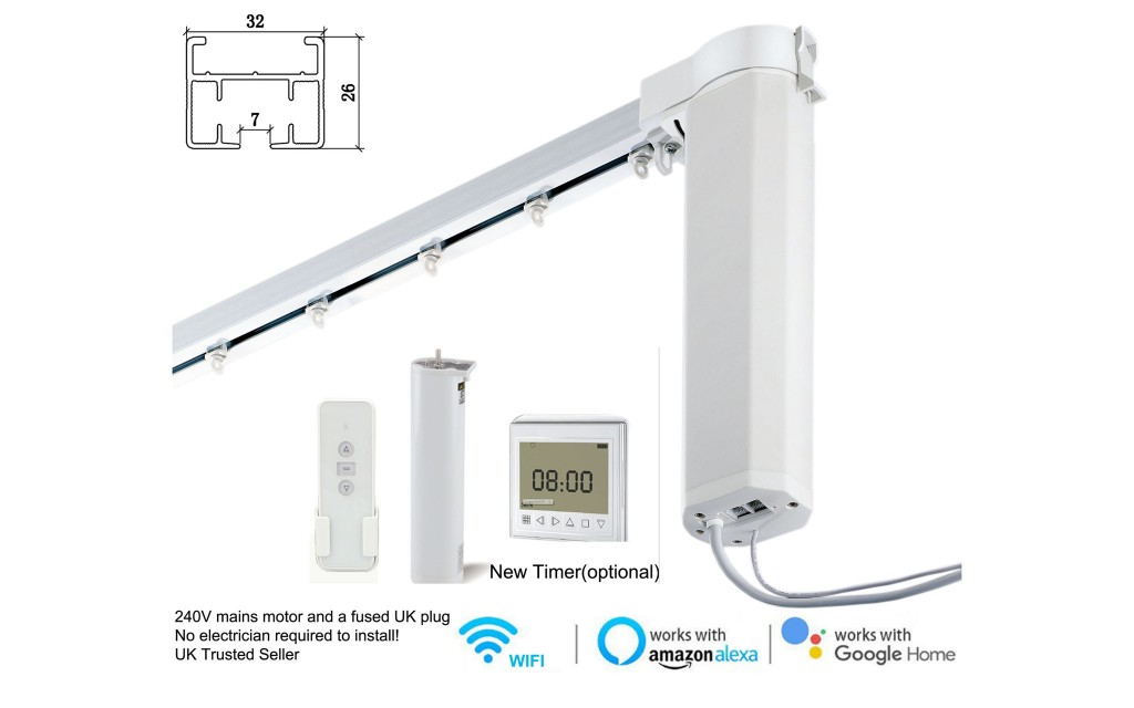 2 Meter Smart Wifi Motorized Curtain Tracks Works With